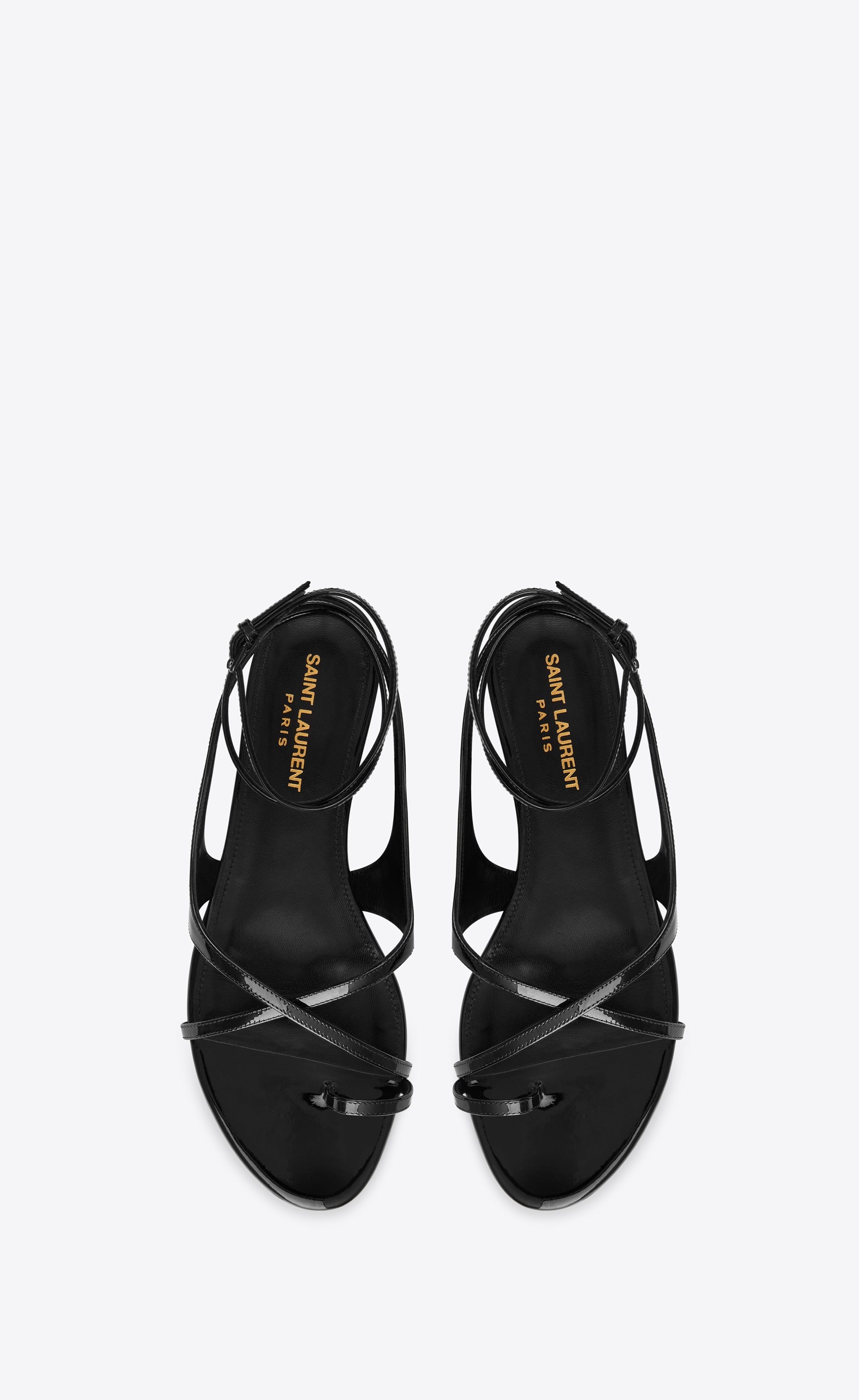 c0d6320d9b03a GIA open sandals in patent leather in 2019 | If the shoe fits, wear it!
