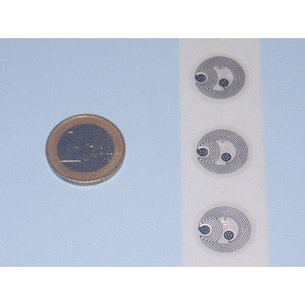 NFC Stickers NTAG215 Wet Inlays - 18 mm diameter for 504 bytes of memory