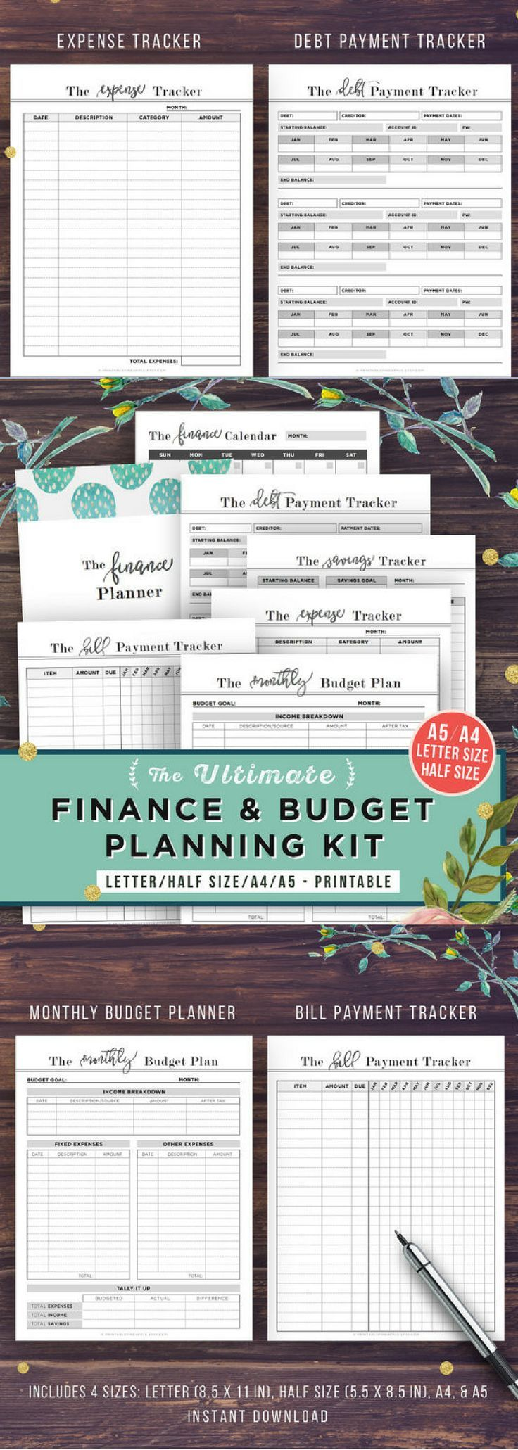 monthly financial planner