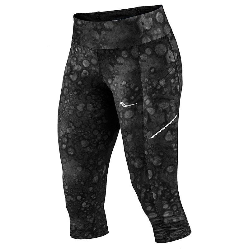 471b67cf7b Saucony Women's Bullet Capri (Carbon Print) $66.00 | Fitness ...