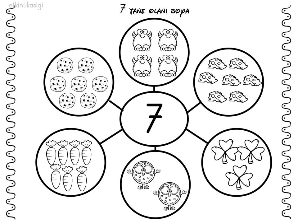 7 Rakami Ogrenme Faaliyetler Okul Oncesi