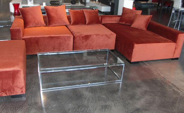 Decenni Custom Modular Sectional. As shown for $2400. Choose from 100's of fabrics and have it in your home in 2 weeks.