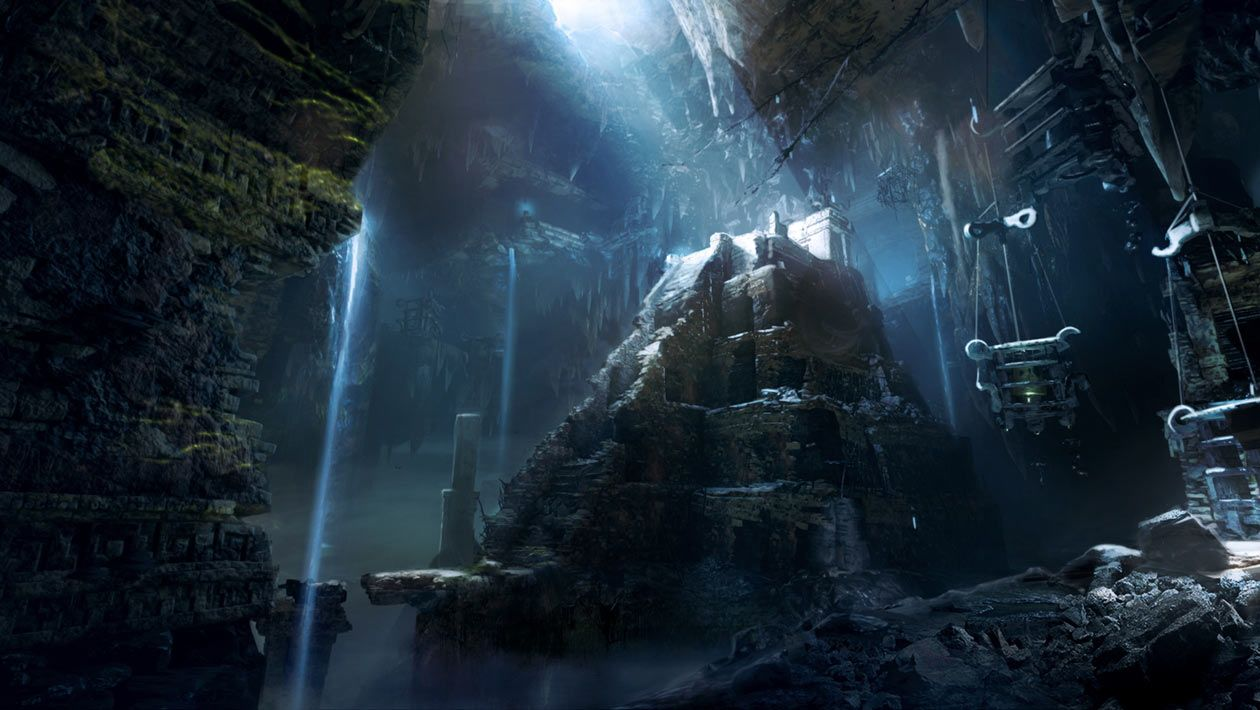 Mayan Tomb Concept Art From Shadow Of The Tomb Raider Art