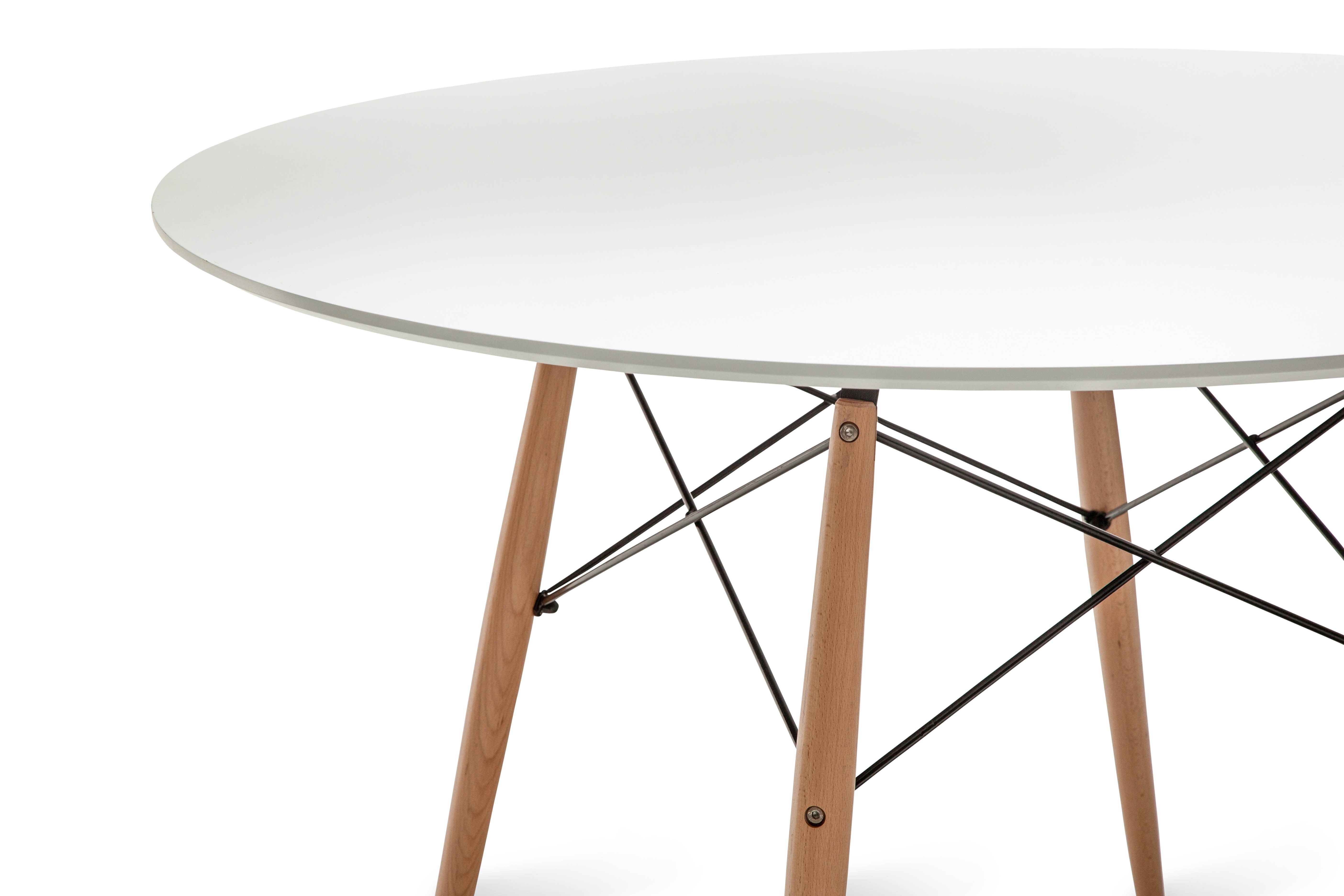 Replica Eames Dsw Round Dining Table 120 White With Images