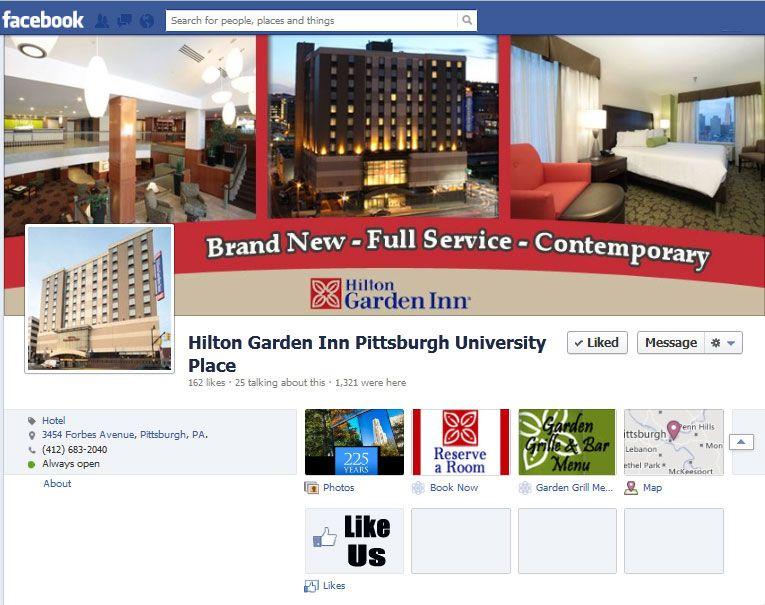 Custom Facebook photos designed for the Hilton Garden