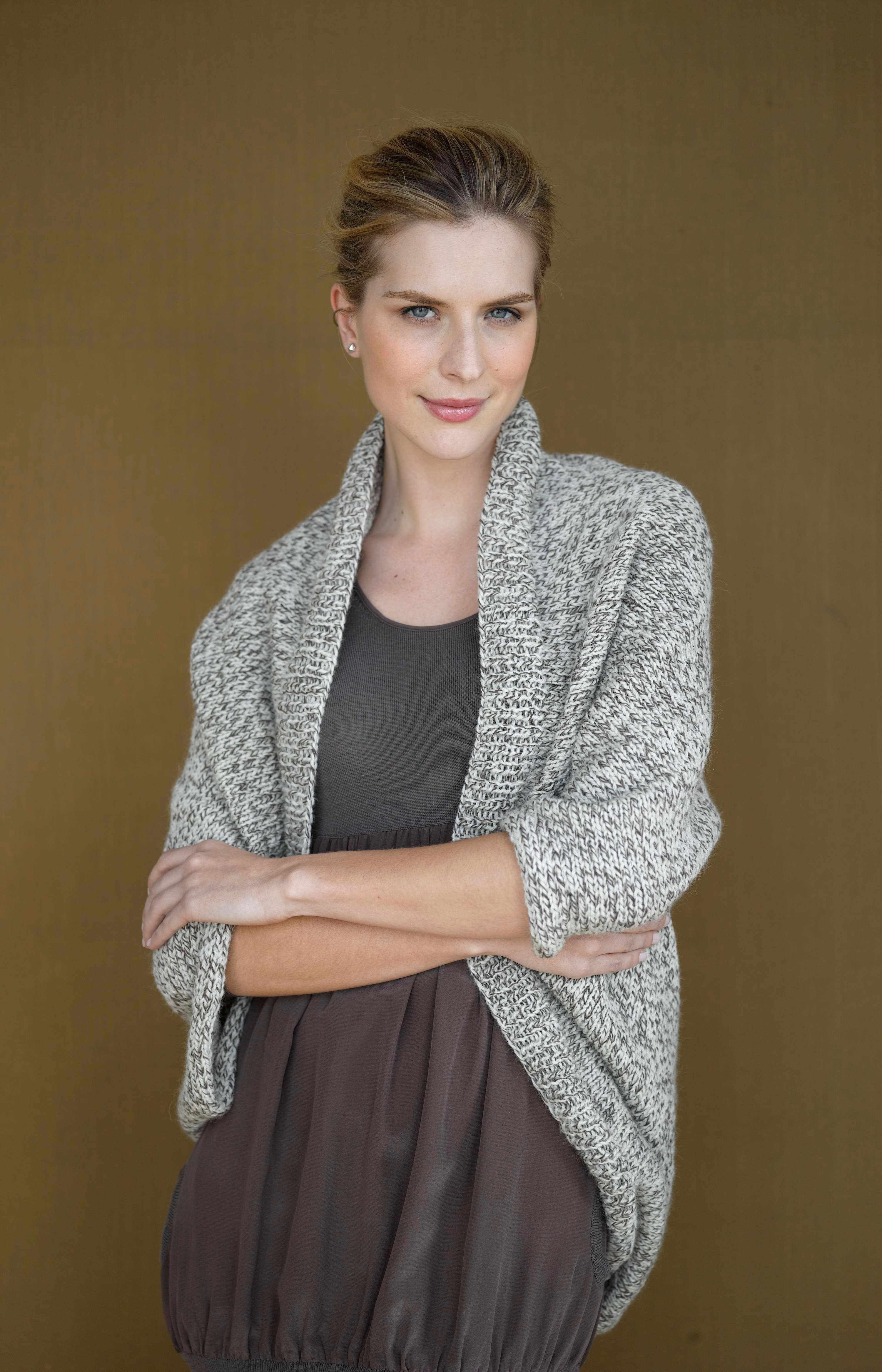 Speckled Shrug (Knit) Free Knitting Pattern from Lion Brand ...