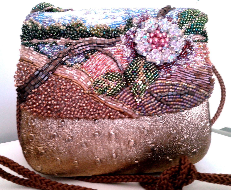 #handmade beaded (shades) pink purse