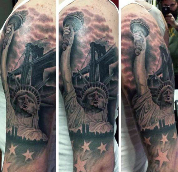 Freedom Tattoos For Men 70 Statue Of Liberty Tattoo Designs For Men