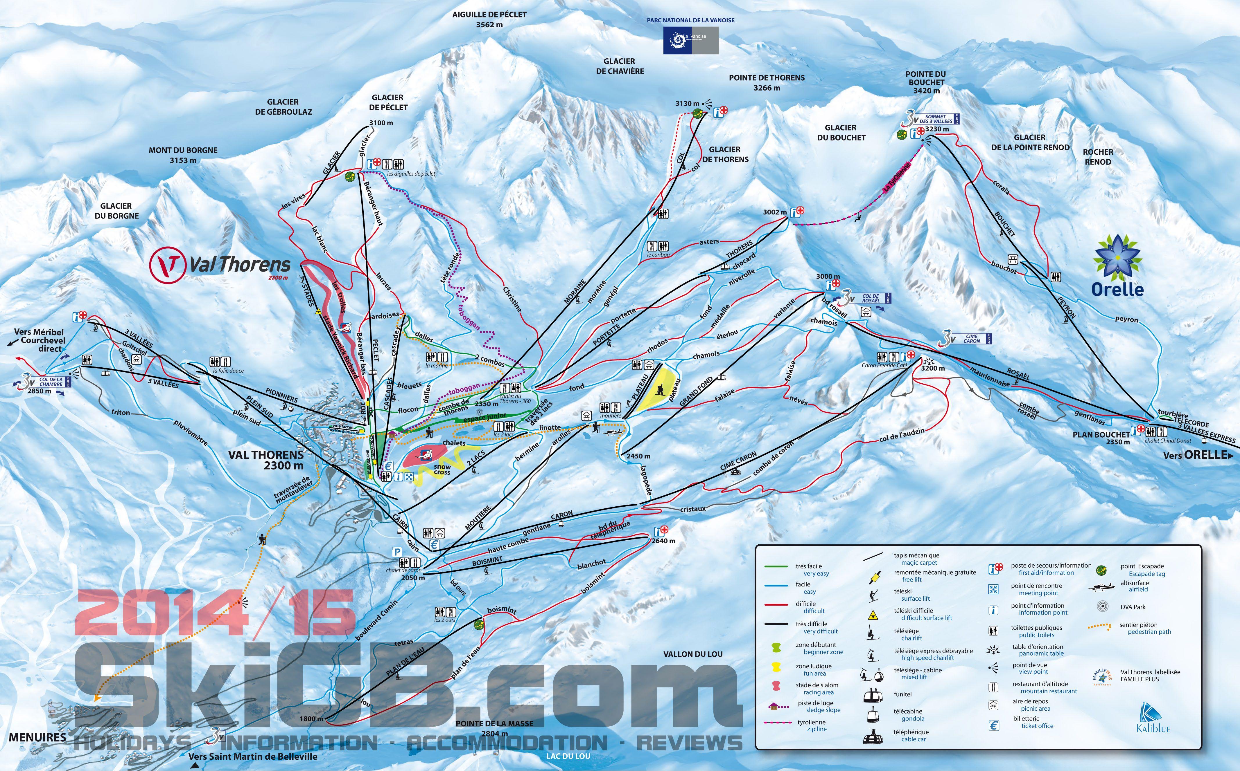 Courchevel Piste Map Ski Pinterest Resorts