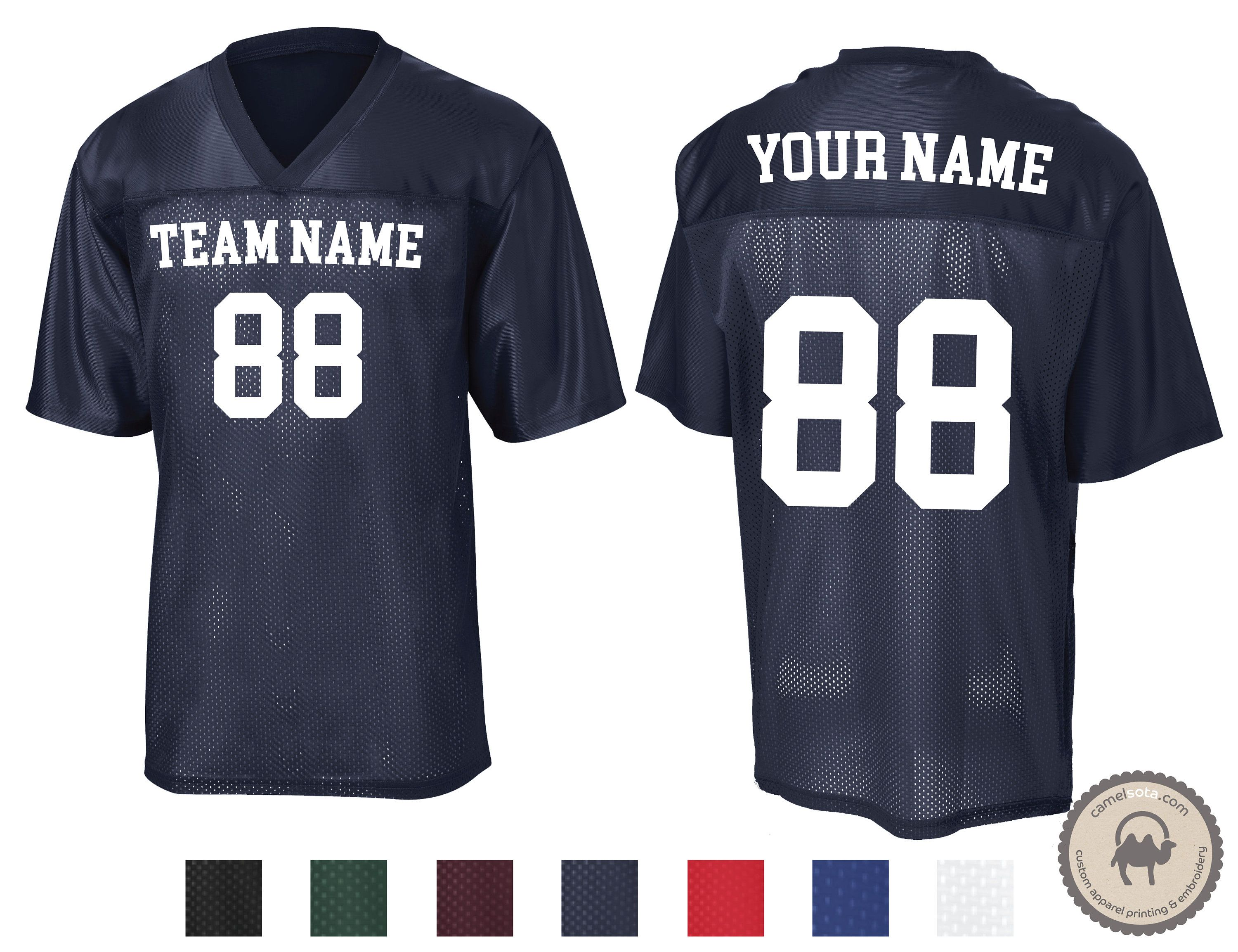 Personalized T Shirt Sport Team Uniform Jersey Name Number Baseball Softball