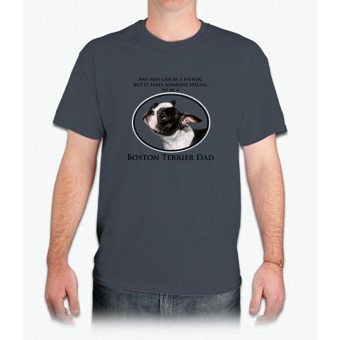 Boston Terrier Dad - Mens T-Shirt