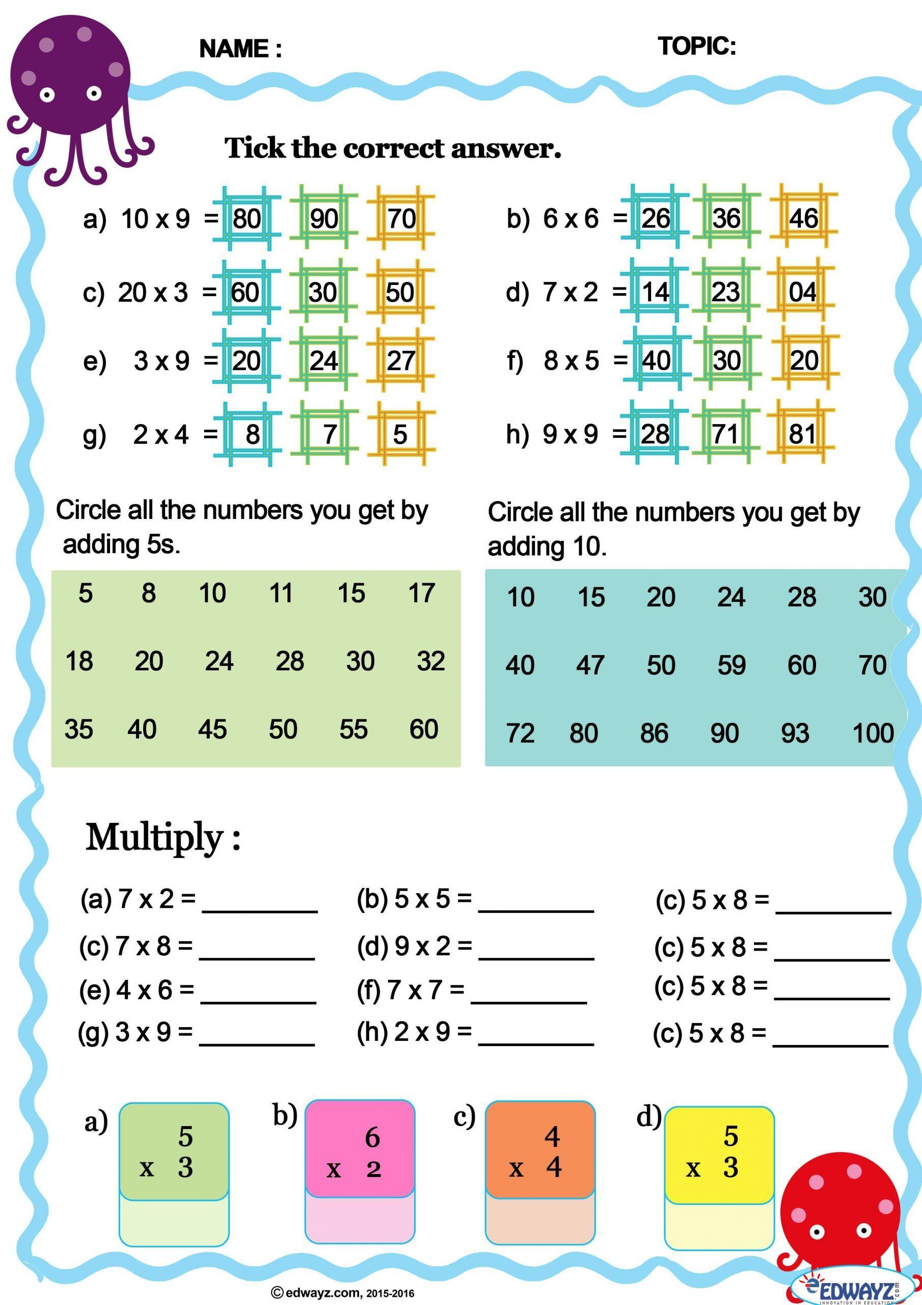medium resolution of 5 Free Math Worksheets Third Grade 3 Multiplication Multiplication Table 7  8 0101b65e8ad…   First grade math worksheets