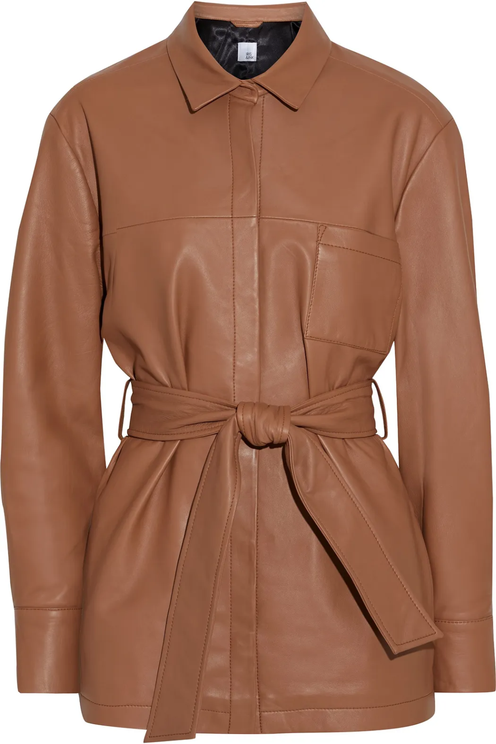 Light Brown Fatima Belted Leather Jacket Sale Up To 70 Off The Outnet Iris Ink Leather Jackets For Sale Leather Jacket Ink Clothes [ 1500 x 1000 Pixel ]
