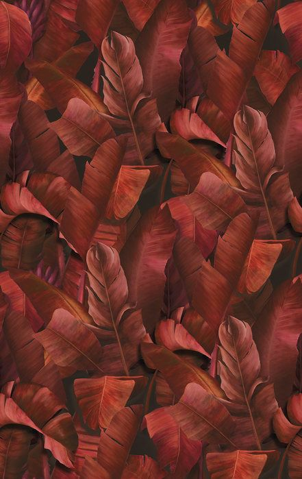 Product description for seabrook n/a metallic gold and burnt orange wallpaper (seabrook wallpaper). Botany Tropical Burnt Orange - trendy wallpaper   Orange ...
