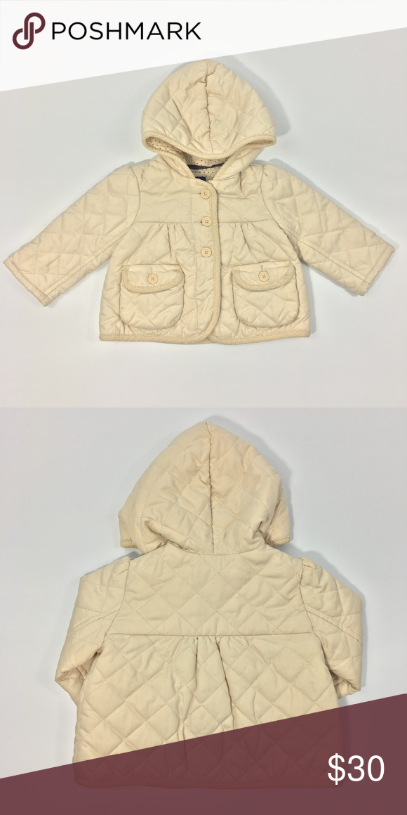 Baby Gap Quilted Jacket Beige115 467 Baby Gap Quilted Jacket