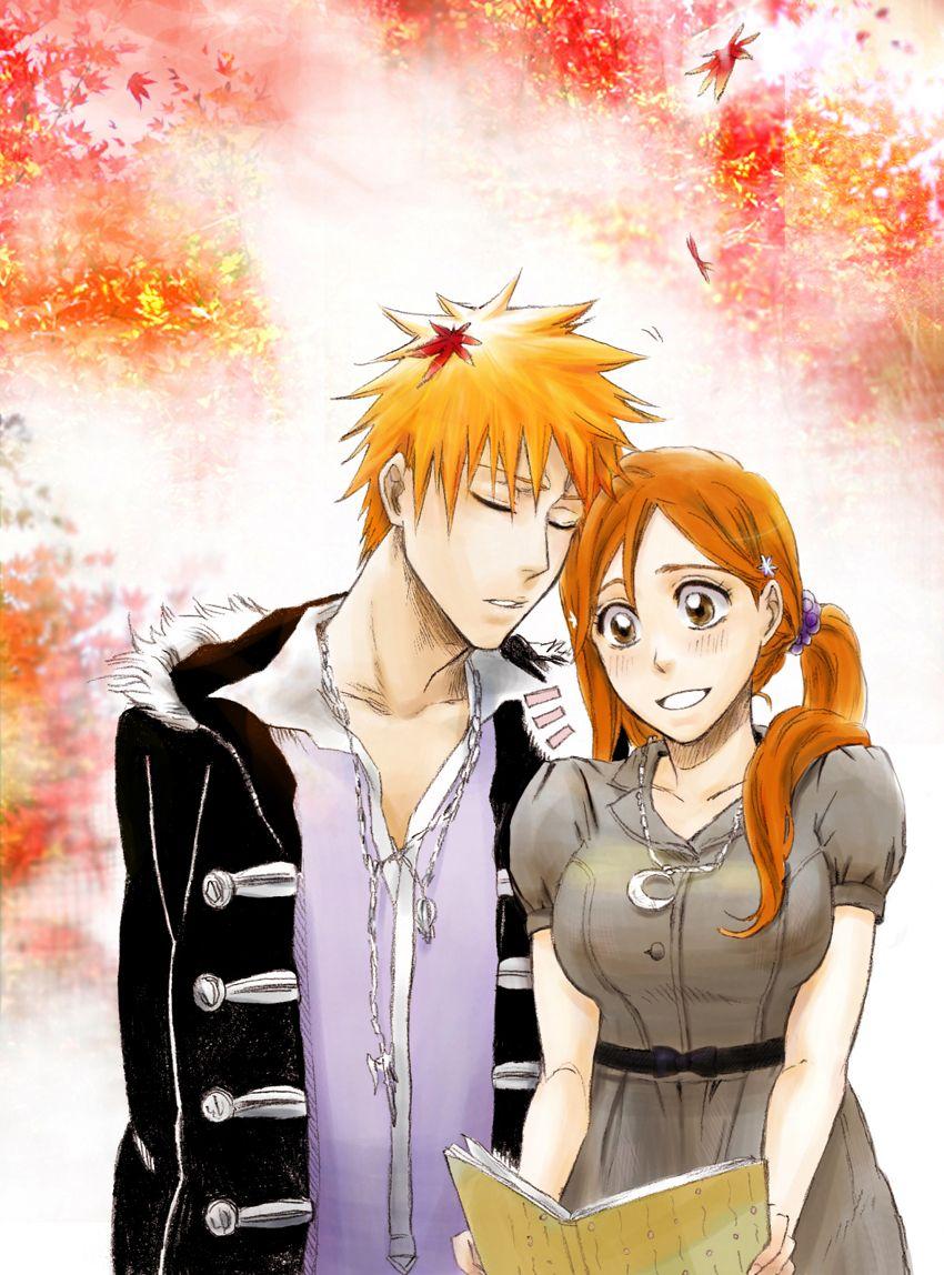 Anime Characters From Bleach : Ichigo and orihime ichihime pinterest anime manga