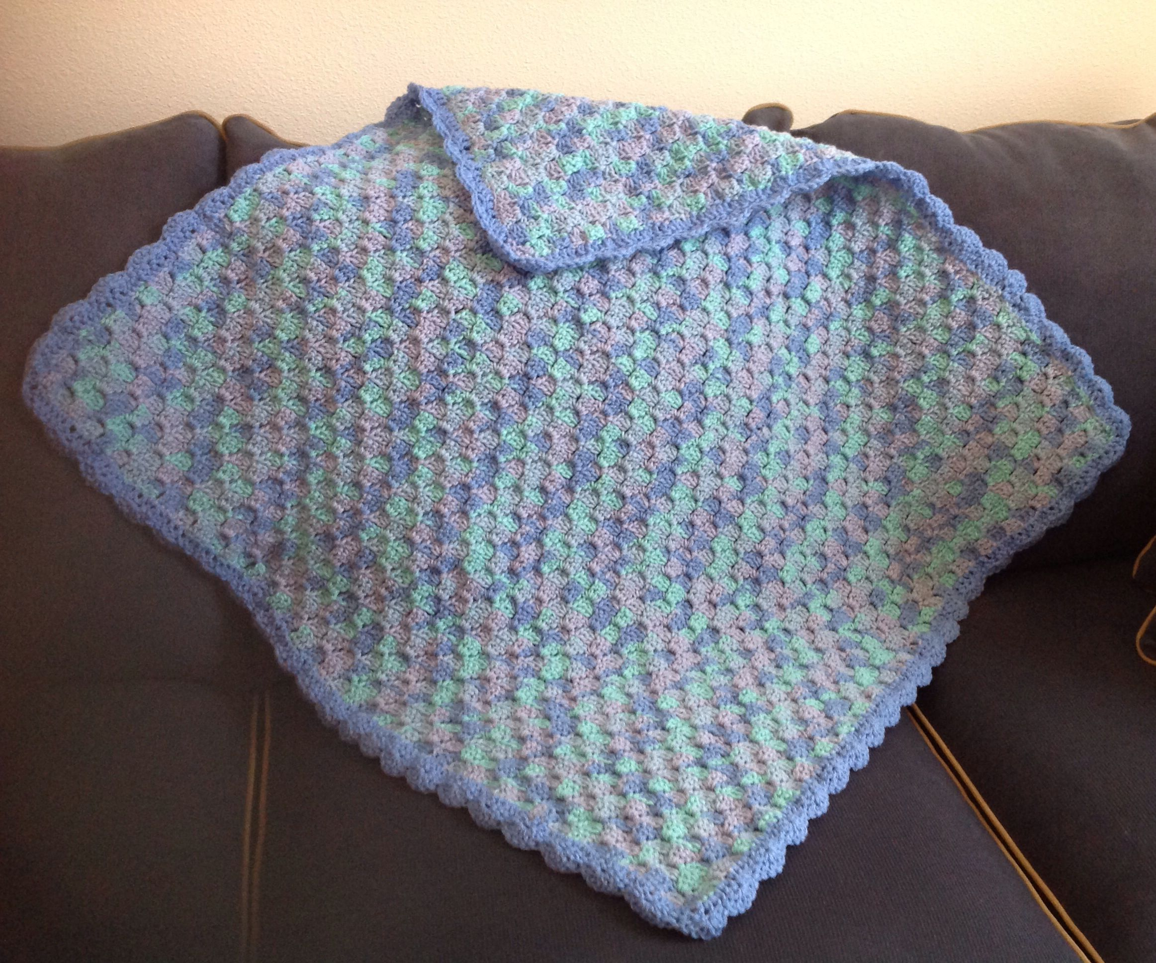 Corner to corner crocheted baby afghan. Adapted from pattern http ...