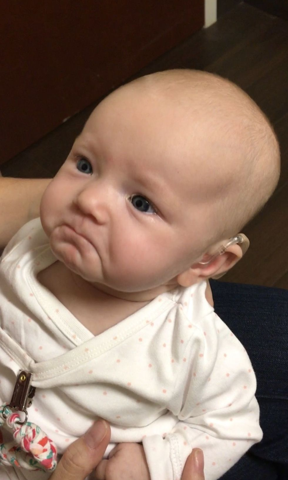 Baby Who Is Deaf Has Incredible Reaction to Hearing Her Mom Say I Love You for First Time
