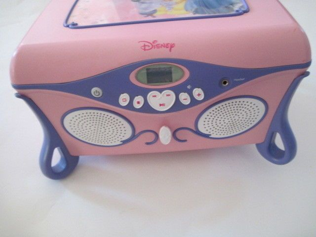 Disney princess jukebox cd player jewelry box mirror pink purple