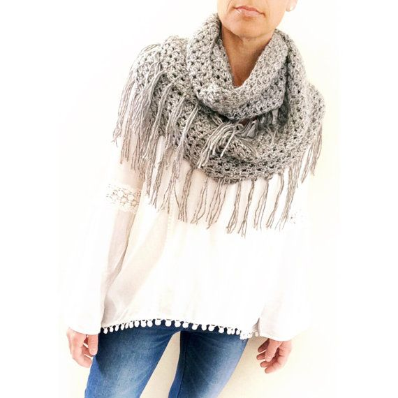 Crochet Scarf Pattern The Alta Fringe Loop Scarf Crochet | For the ...