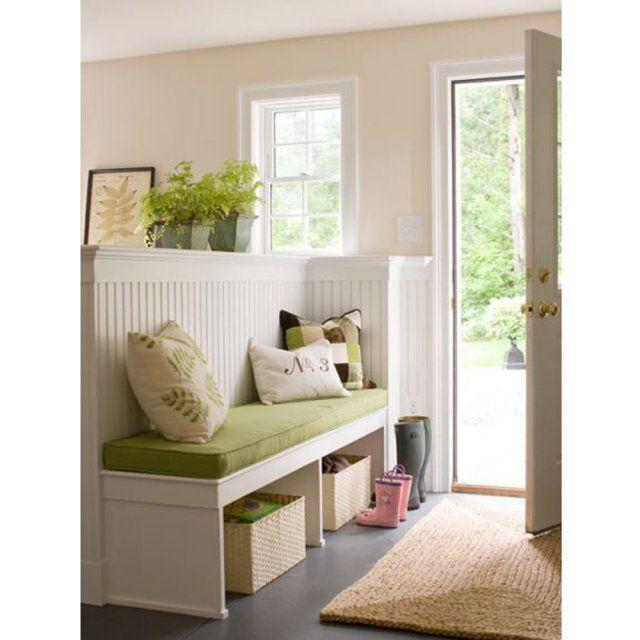 comment am nager son hall d 39 entr e entr e de maison banquette et entr e. Black Bedroom Furniture Sets. Home Design Ideas