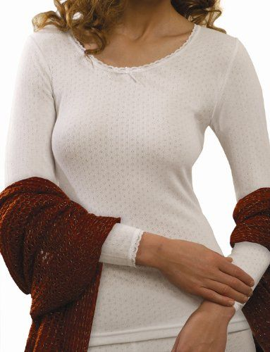 $32.99 awesome Vedoneire Womens White Brushed Thermal Long Sleeve Top (2222) Winter Undervest