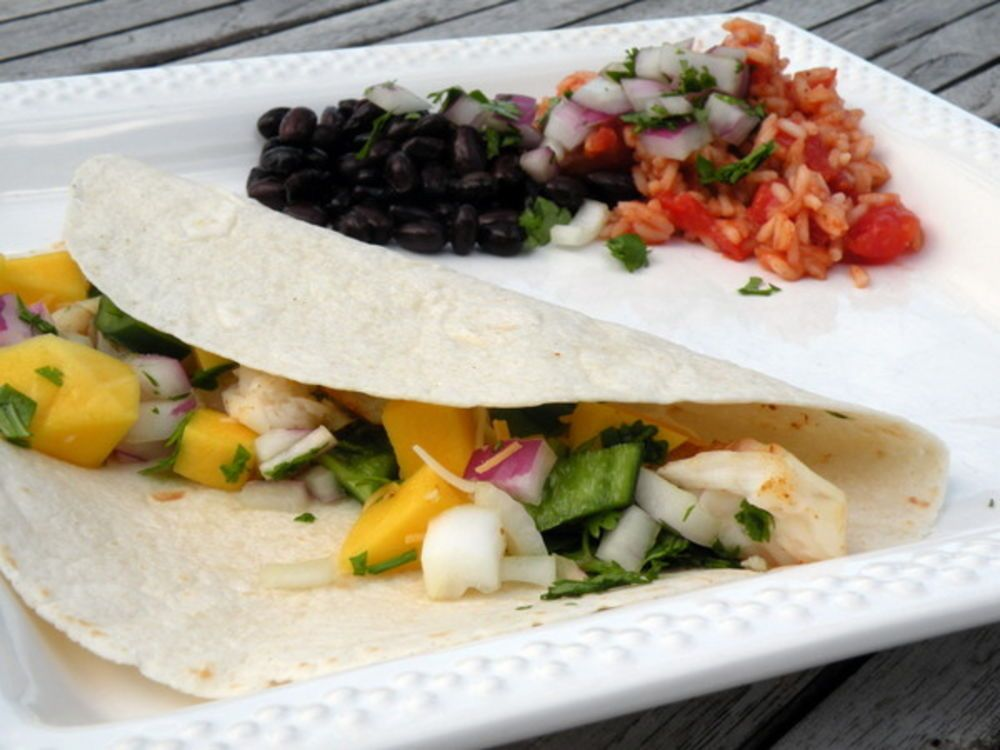 Halibut Fish Tacos With Mango Salsa Dump And Go Dinner Recipe