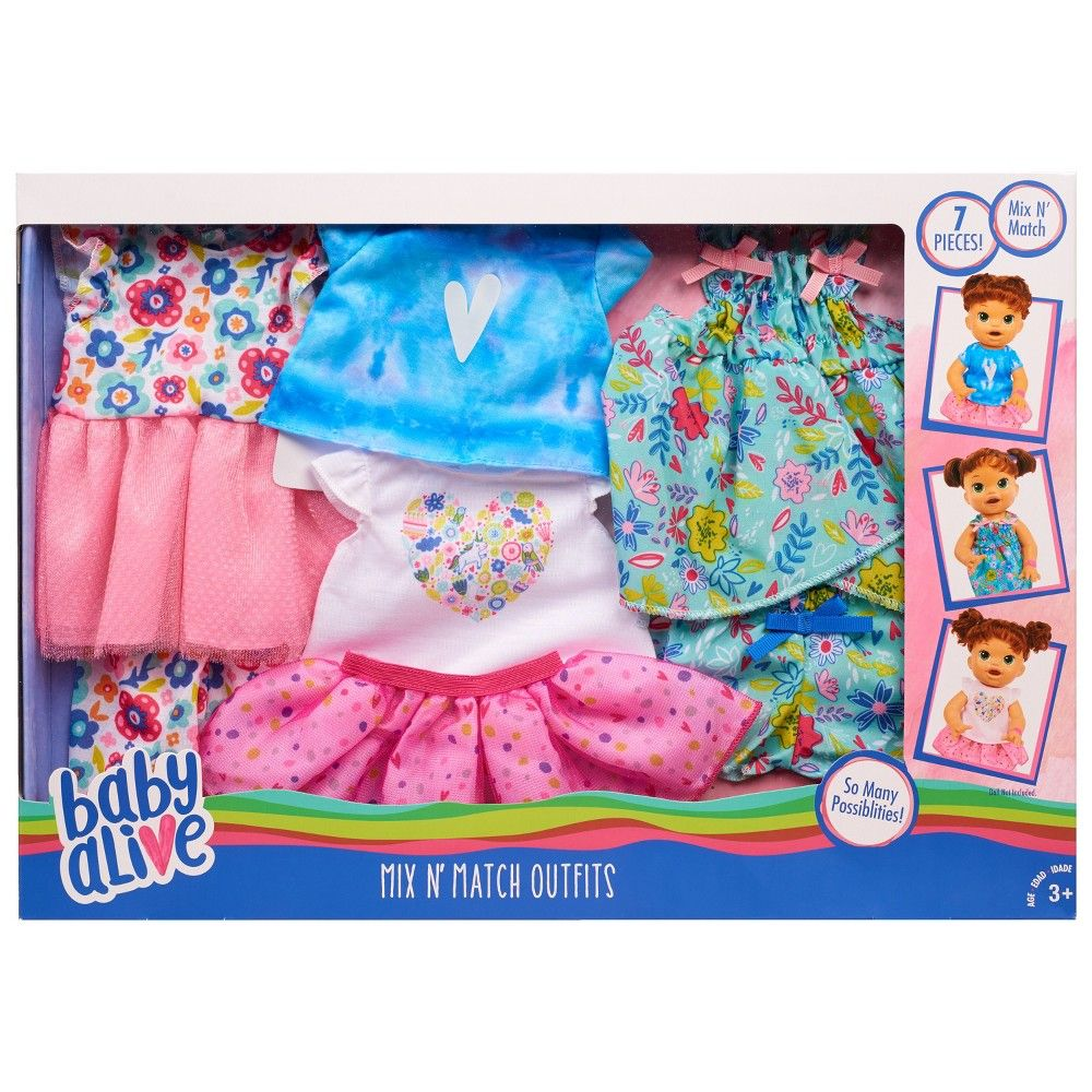 Baby Alive Mix N Match Outfit Set In 2020 Baby Alive Doll Clothes Baby Alive Dolls Baby Dolls For Kids