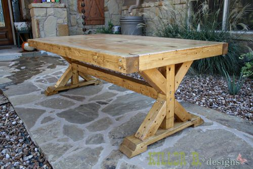 Ana White | Build A Chunky X Base Table Featuring Killer B. Designs | Free