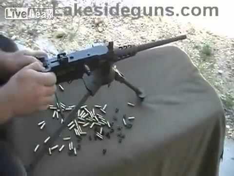 Scale Model 50-Cal Machinegun Fires Real  22 Cal bullets