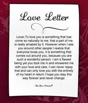 Sample Love Letters Straight From Your Heart