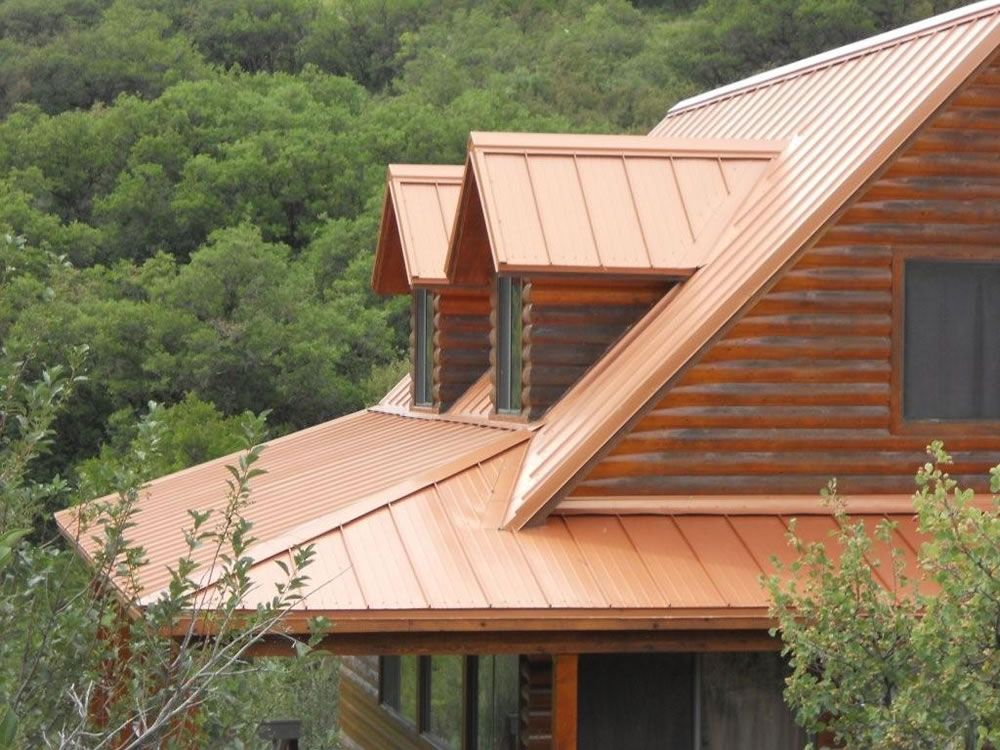 Skyline Metal Roofing In Copper Penny Color Residential Project Metal Roof Copper Metal Roof Copper Roof