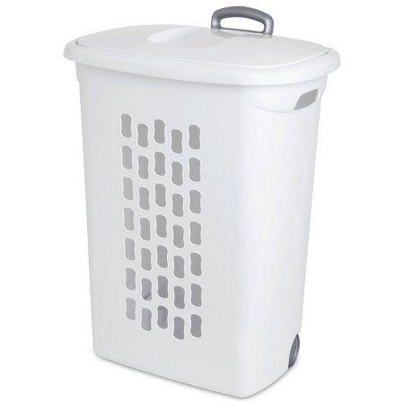 Home Laundry Hamper White Laundry Hamper Laundry Basket On Wheels