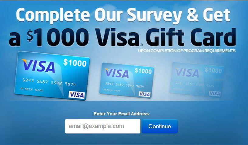 Visa Gift Card - ConsumerGiftCards - $1000 Visa Gift Card To ...