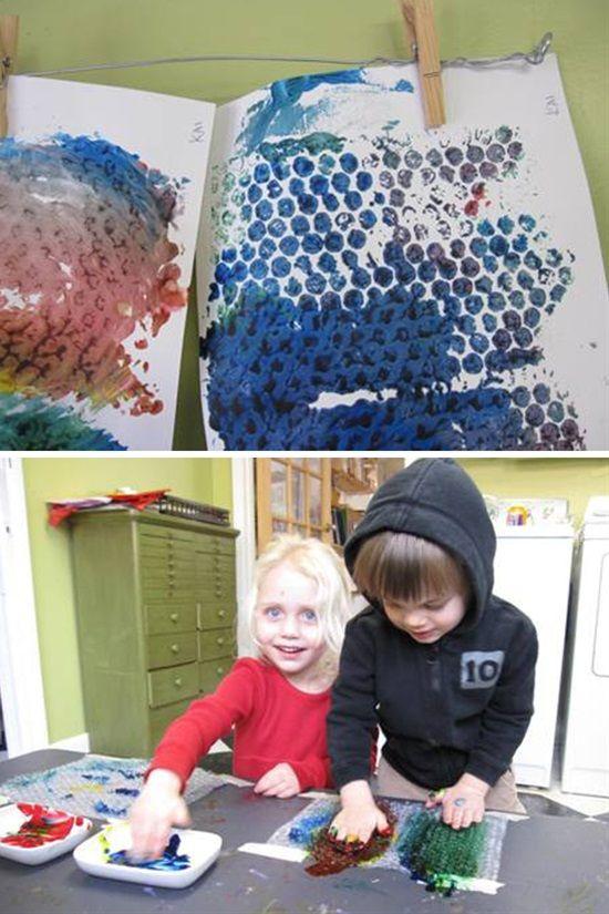 10 Fun Printmaking Ideas For Kids Pinterest Printmaking Bubble