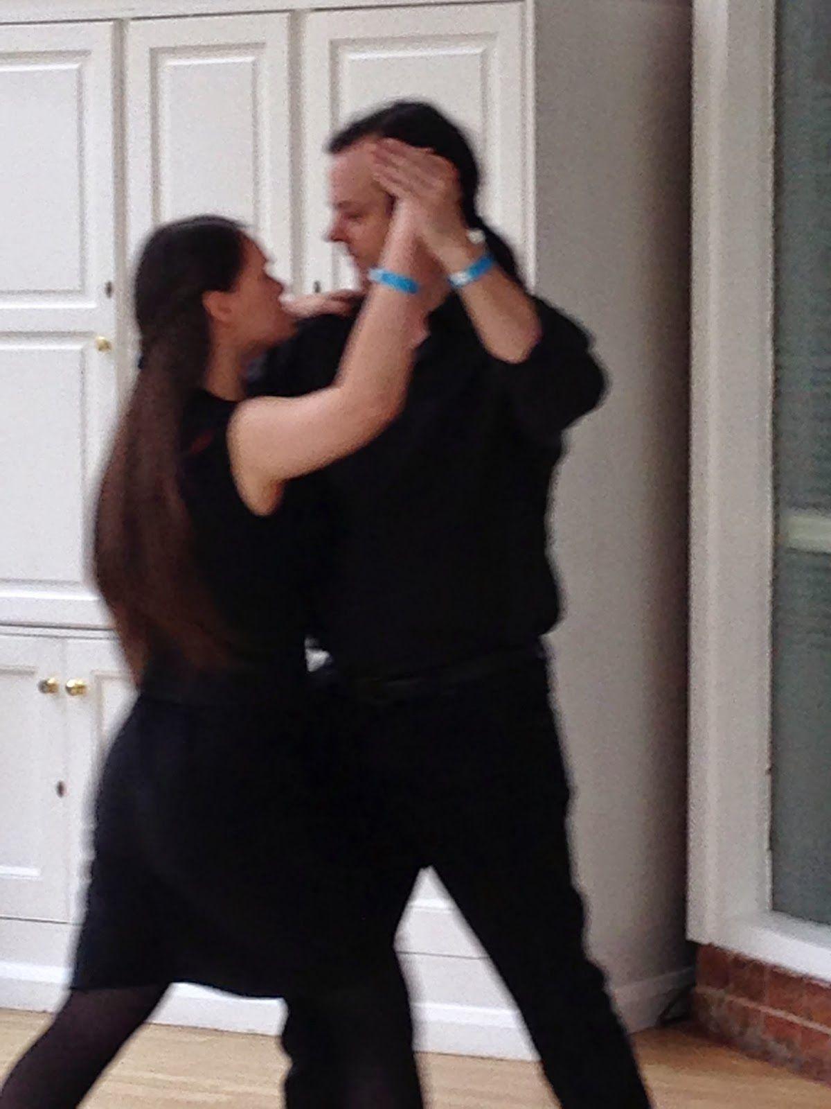Tango class at Riot Jive Weekend, Hayling Island.