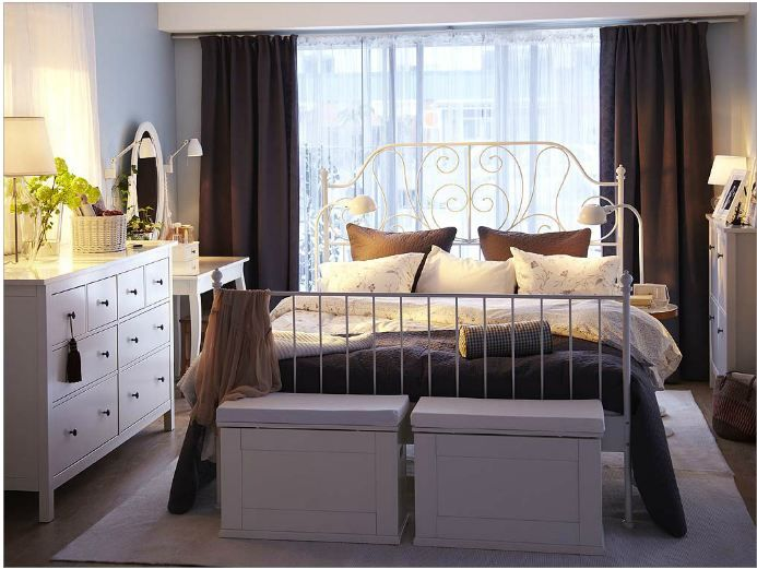 Ikea Guest Room Ideas Ikea Bedroom Design White Metal Bed Bedroom Interior
