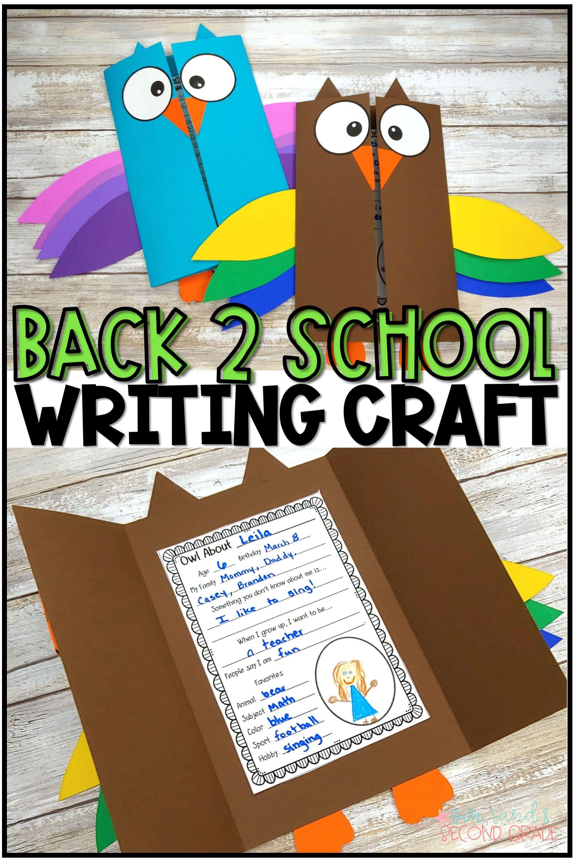 Back To School Owl Writing Craftivity