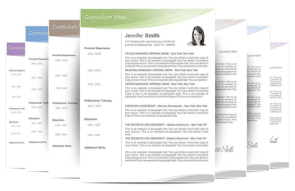 Cv Template  Cv Template Package Includes Professional Layout