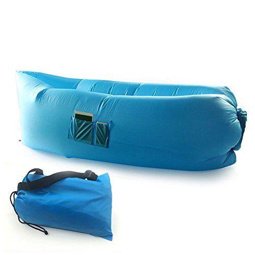 Sillon Inflable Puff Sofa Cama Azul Portatil Lamzac - Cam... https ...
