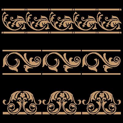 Stencil decoracion y manualidades cenefa 054 laminas - Cenefas de papel ...