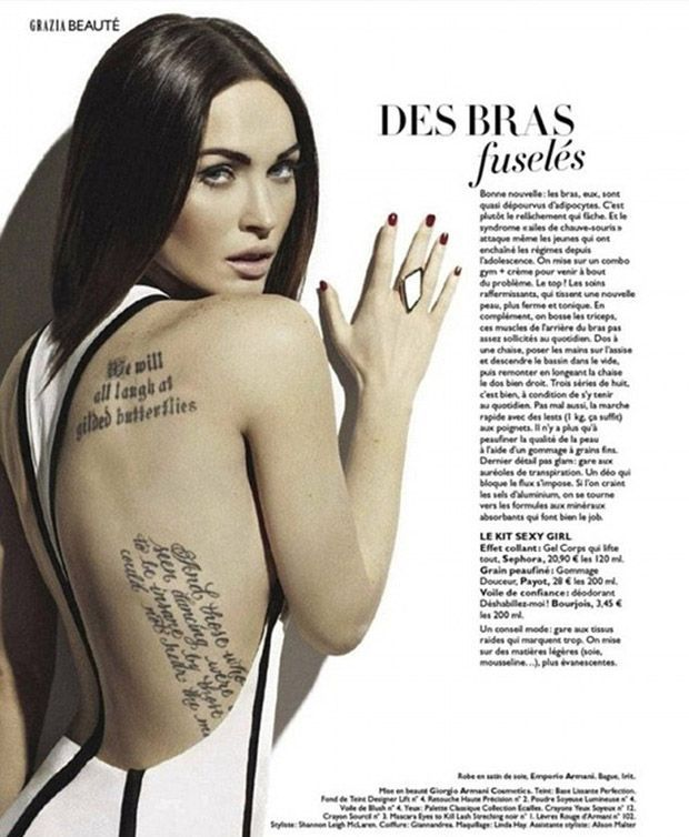 Tattoo Celebrity Tattoos Megan Fox Tattoo Megan Fox