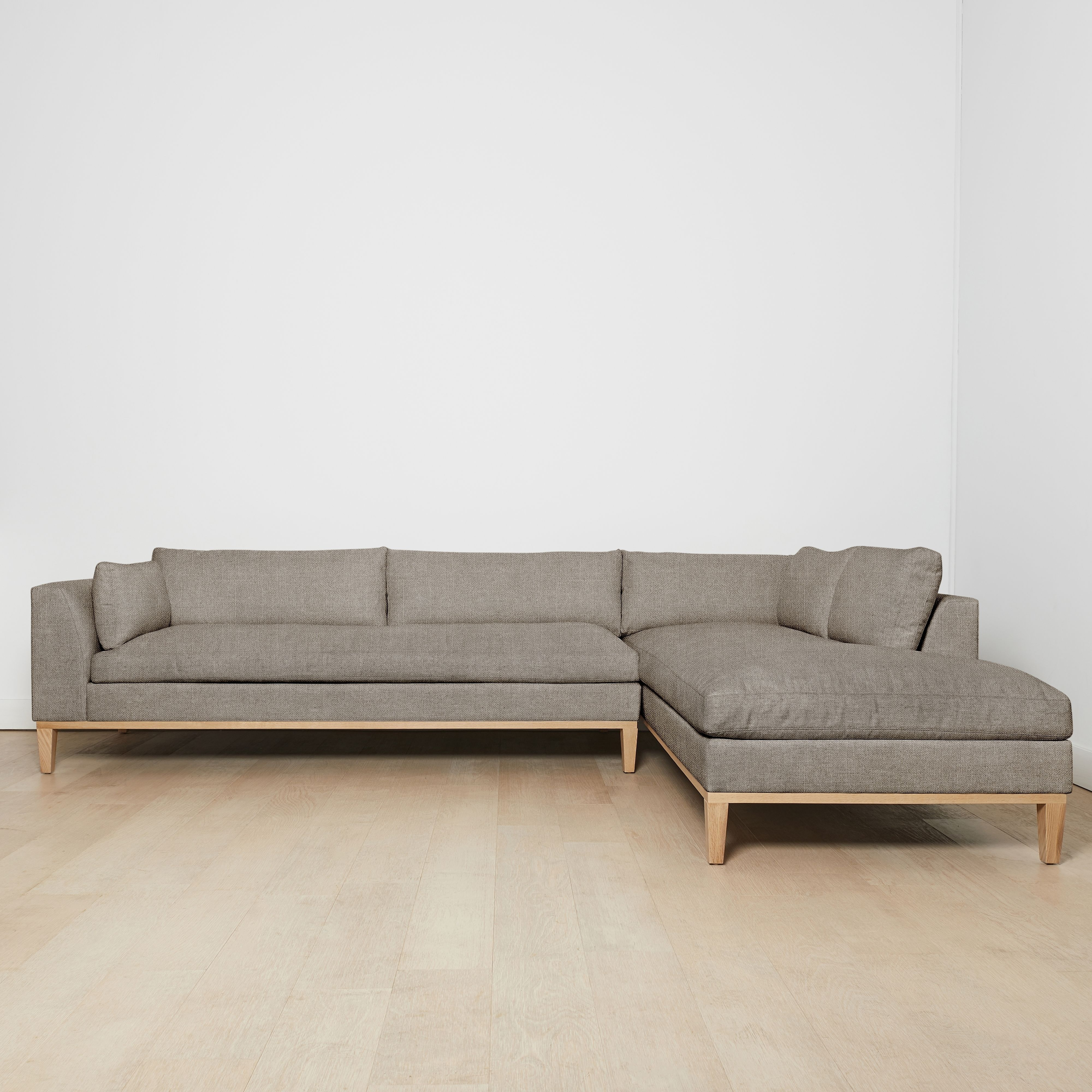 Charleston Right Facing Sectional Sofa Flannel Sectional Sectional Sofa Stylish Decor