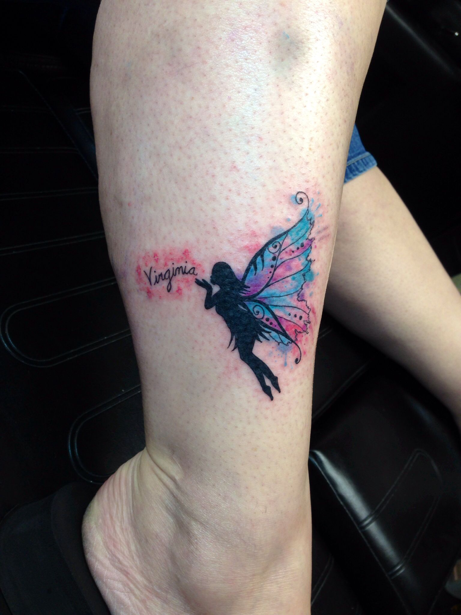 Water color fairy tattoo Watercolor tattoos Pinterest