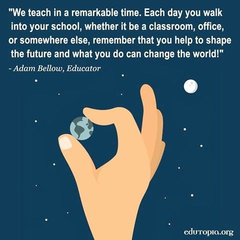 Los educadores pueden moldear o cambiar el futuro... http://ow.ly/i/2Vfpl cursos@enidiomas.com