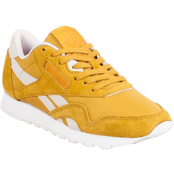 4e4a153fd83 Reebok Classic Leather Nylon X Face Women s Athletic Sneaker ( 65) ❤ liked  on Polyvore