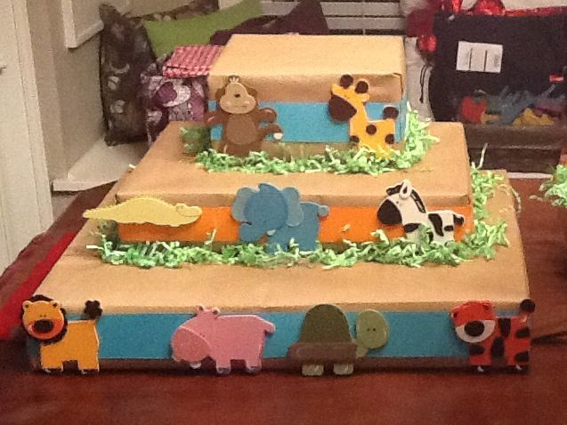 Safari Themed Baby Shower Cupcake Stand Pinterest Successes
