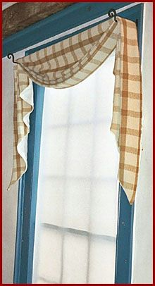 Sturbridge Country Style Fishtail Swag Curtains From Park Designs