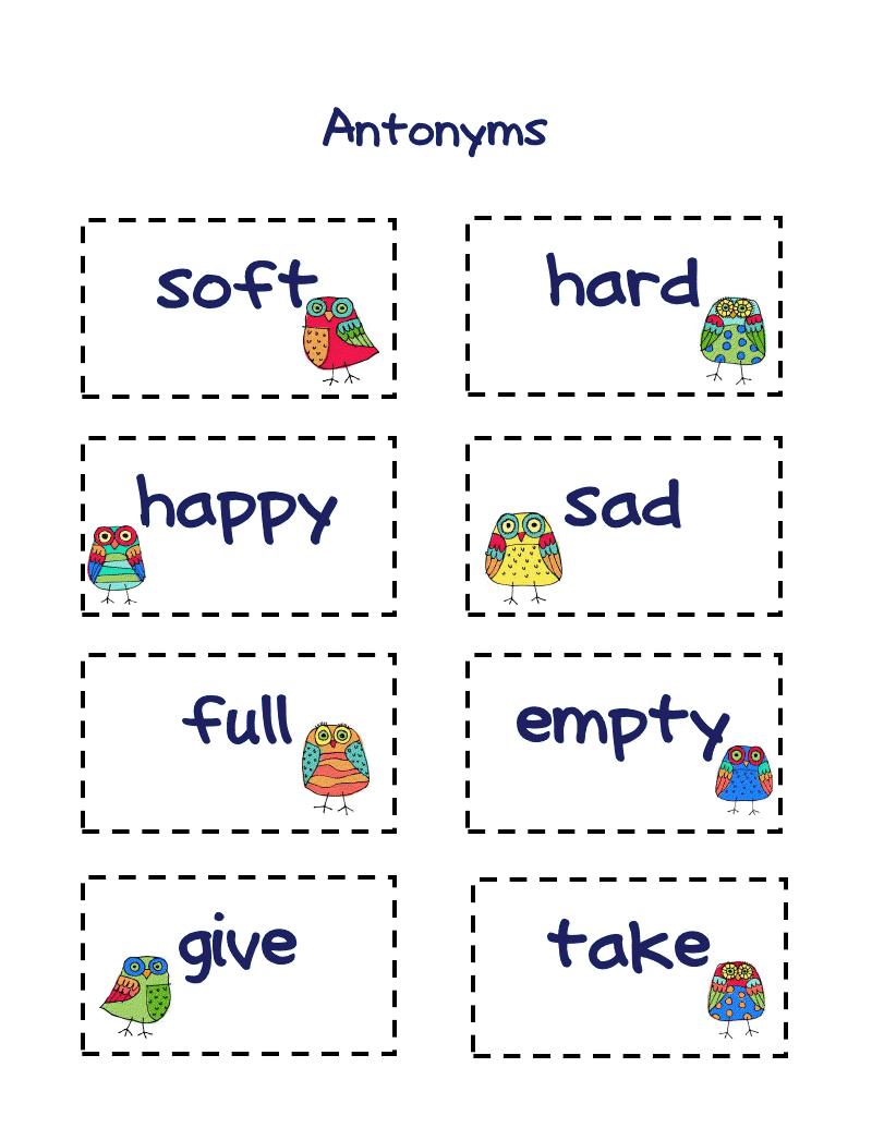 worksheet Matching Opposites Worksheets antonyms classroom ideas pinterest language arts and free worksheet matching cards antonyms