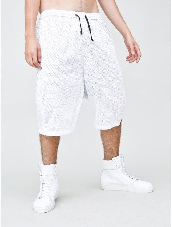 baggy short mesh white | Active mens | Pinterest | Baggy shorts